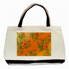 Flowers Background Backdrop Floral Basic Tote Bag (Two Sides)