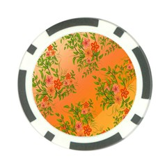 Flowers Background Backdrop Floral Poker Chip Card Guard