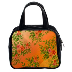 Flowers Background Backdrop Floral Classic Handbags (2 Sides)