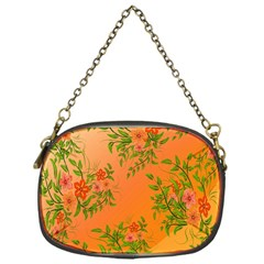 Flowers Background Backdrop Floral Chain Purses (One Side)