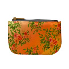 Flowers Background Backdrop Floral Mini Coin Purses