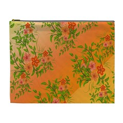 Flowers Background Backdrop Floral Cosmetic Bag (XL)