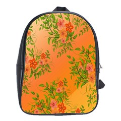 Flowers Background Backdrop Floral School Bags(Large)