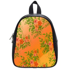 Flowers Background Backdrop Floral School Bags (Small)
