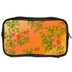 Flowers Background Backdrop Floral Toiletries Bags 2 Side