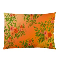 Flowers Background Backdrop Floral Pillow Case (Two Sides)