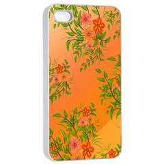 Flowers Background Backdrop Floral Apple iPhone 4/4s Seamless Case (White)