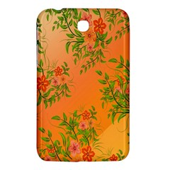 Flowers Background Backdrop Floral Samsung Galaxy Tab 3 (7 ) P3200 Hardshell Case