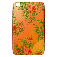 Flowers Background Backdrop Floral Samsung Galaxy Tab 3 (8 ) T3100 Hardshell Case