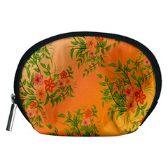 Flowers Background Backdrop Floral Accessory Pouches (medium)