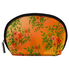 Flowers Background Backdrop Floral Accessory Pouches (Large)