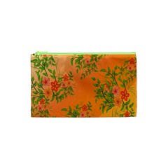 Flowers Background Backdrop Floral Cosmetic Bag (XS)