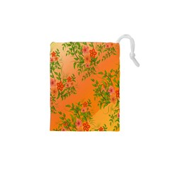 Flowers Background Backdrop Floral Drawstring Pouches (XS)