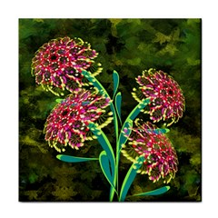 Flowers Abstract Decoration Tile Coasters