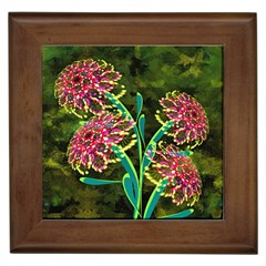 Flowers Abstract Decoration Framed Tiles