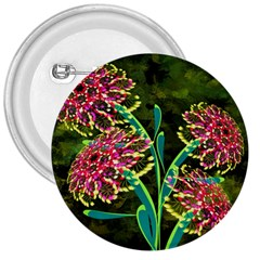 Flowers Abstract Decoration 3  Buttons