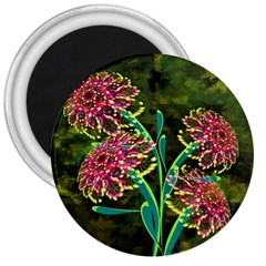 Flowers Abstract Decoration 3  Magnets