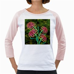 Flowers Abstract Decoration Girly Raglans