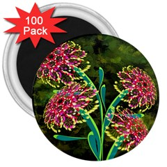 Flowers Abstract Decoration 3  Magnets (100 pack)