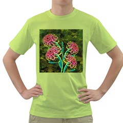 Flowers Abstract Decoration Green T-Shirt