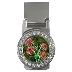 Flowers Abstract Decoration Money Clips (CZ)