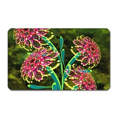 Flowers Abstract Decoration Magnet (rectangular)