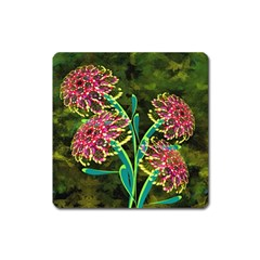 Flowers Abstract Decoration Square Magnet