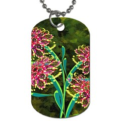 Flowers Abstract Decoration Dog Tag (one Side)