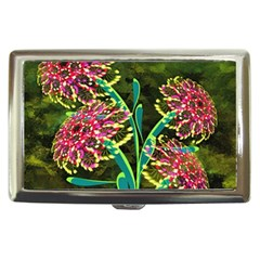 Flowers Abstract Decoration Cigarette Money Cases