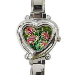 Flowers Abstract Decoration Heart Italian Charm Watch