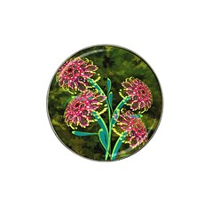 Flowers Abstract Decoration Hat Clip Ball Marker (4 pack)