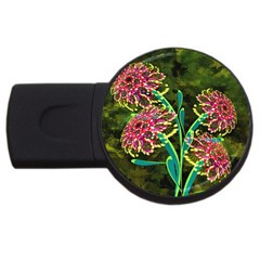 Flowers Abstract Decoration USB Flash Drive Round (4 GB)