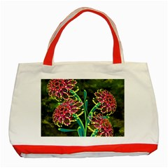 Flowers Abstract Decoration Classic Tote Bag (Red)