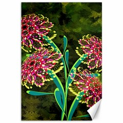Flowers Abstract Decoration Canvas 12  x 18