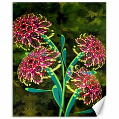 Flowers Abstract Decoration Canvas 16  x 20