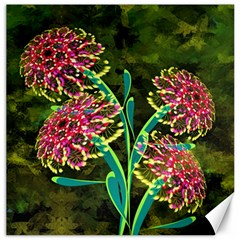 Flowers Abstract Decoration Canvas 20  x 20
