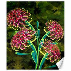 Flowers Abstract Decoration Canvas 20  x 24