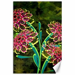 Flowers Abstract Decoration Canvas 24  x 36