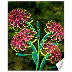 Flowers Abstract Decoration Canvas 11  X 14