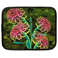 Flowers Abstract Decoration Netbook Case (large)