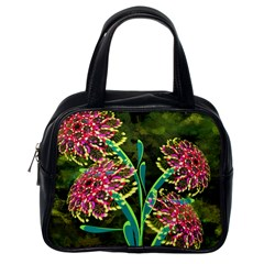Flowers Abstract Decoration Classic Handbags (One Side)