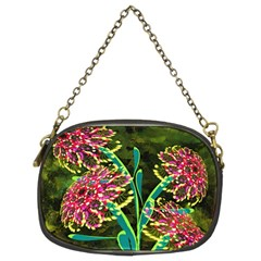 Flowers Abstract Decoration Chain Purses (two Sides)