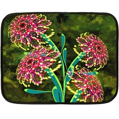 Flowers Abstract Decoration Double Sided Fleece Blanket (mini)