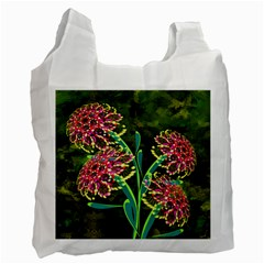 Flowers Abstract Decoration Recycle Bag (One Side)