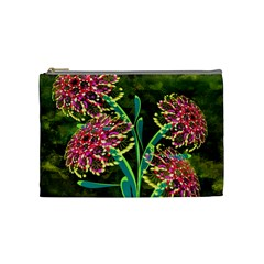 Flowers Abstract Decoration Cosmetic Bag (Medium)