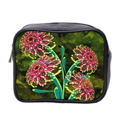 Flowers Abstract Decoration Mini Toiletries Bag 2-Side