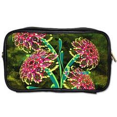 Flowers Abstract Decoration Toiletries Bags 2 Side