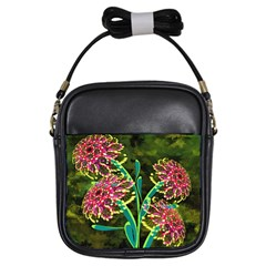 Flowers Abstract Decoration Girls Sling Bags