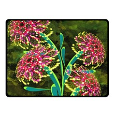 Flowers Abstract Decoration Fleece Blanket (small)