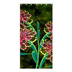 Flowers Abstract Decoration Shower Curtain 36  x 72  (Stall)